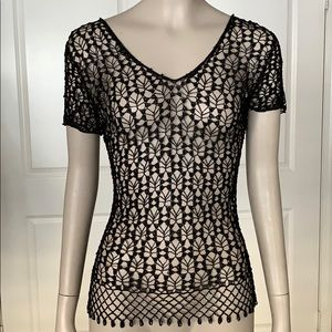 Beads and Lace Tee